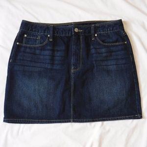 Gap Denim Mini Skirt Dark Wash EUC